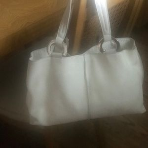 Furla white leather bag